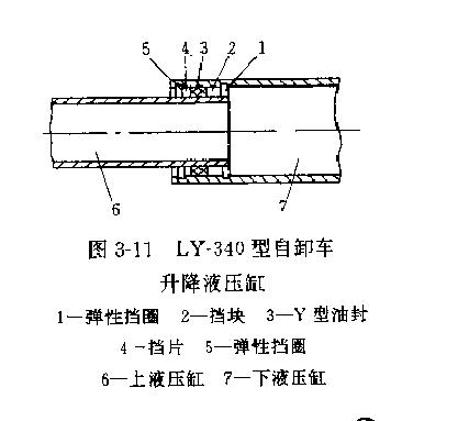 自卸货车采用ly-340型自动倾卸车取力器液压缸,倾卸型式为油压单缸二